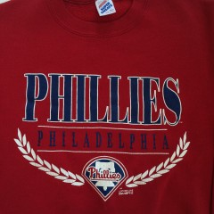 vintage 90's philadelphia phillies mlb crewneck