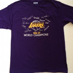 vintage 1986-87 Los Angeles lakers nba world champions t shirt