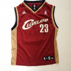 vintage lebron james cleveland cavaliers adidas nba jersey youth medium