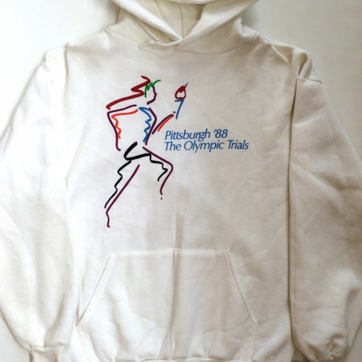 vintage 1988 Pittsburgh The olympic trials sweatshirt hoody