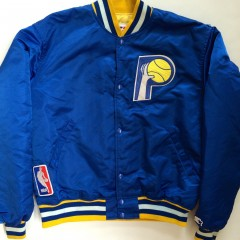 vintage 80's Indiana Pacers Starter NBA satin Jacket size large