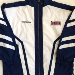 vintage duquesne university windbreaker jacket