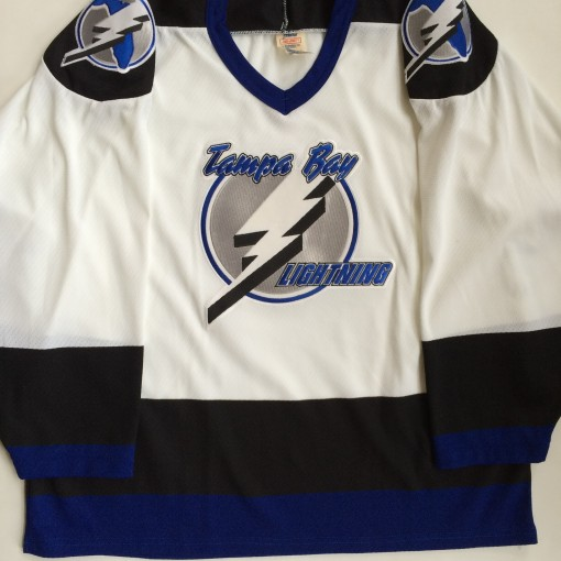 vintage tampa bay lightning 90's nhl hockey jersey