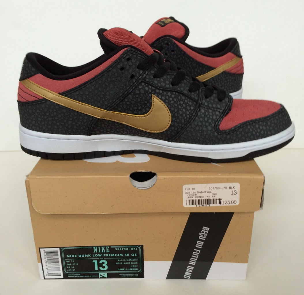 premium selection 0ddf8 11aca ... discount code for nike dunk sb low sneakers brooklyn projects walk of  fame size 13 ae2aa