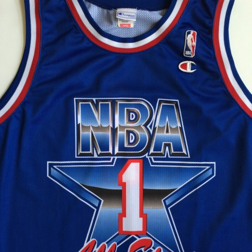 throwback original champion 1992 NBA All Star jersey