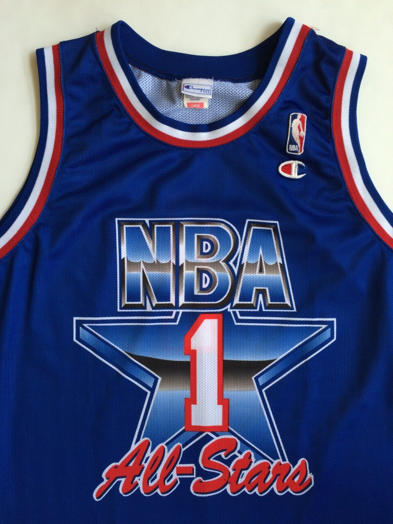 ... western conference size large. european 1992 NBA All star jersey.  throwback original champion 1992 NBA All Star jersey 50eb902cc