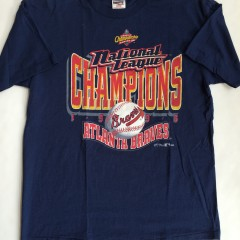 vintage 1996 atlanta braves national league champions t shirt