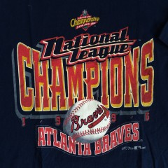 1996 atlanta braves National league champions t shirt xl