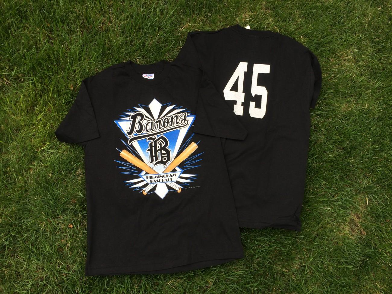 vintage 1994 birmingham barons michael jordan t shirt