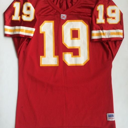 Vintage joe montana kansas city chiefs wilson throwback nfl jersey large