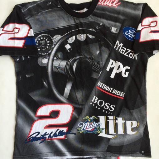 vintage rusty wallace nascar all over print t shirt