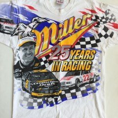 vintage 1996 rusty wallace miller light nascar t shirt