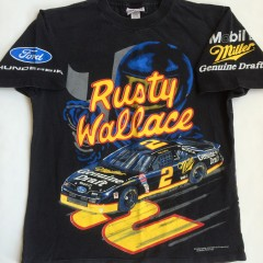 vintage 90's rusty wallace nascar t shirt size large