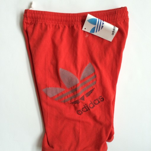vintage 90's red adidas shorts