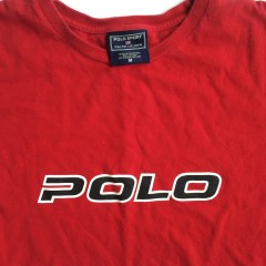 polo sport red classic shirt