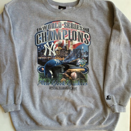 vintage 1998 new york yankees world champions crew neck