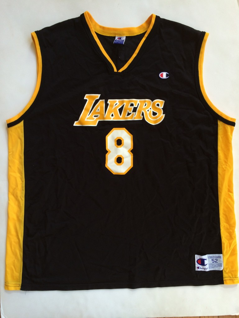 85897cd680af 2002 Kobe Bryant Los Angeles Lakers Champion Black NBA Jersey Size ...