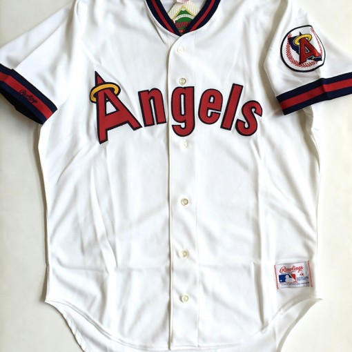 vintage california angels rawlings 1980's mlb jersey size 48