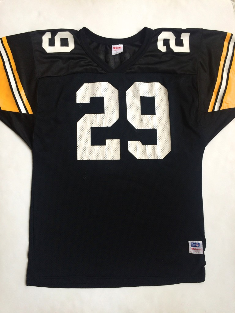 1990 Barry Foster Pittsburgh Steelers Wilson NFL Jersey Size Large