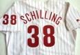 vintage curt schilling authentic russell phillies jersey