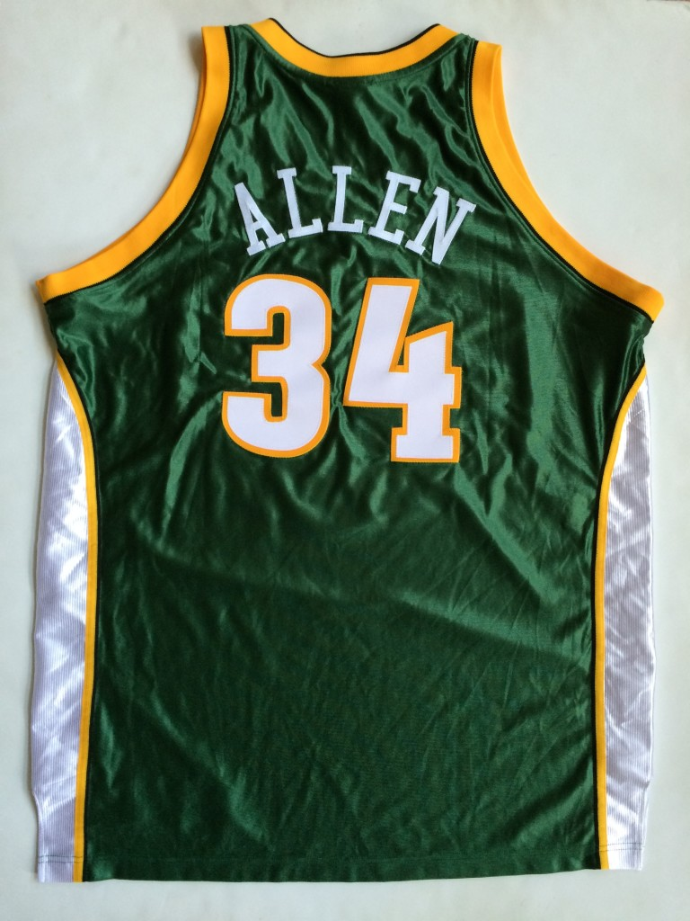 new product 6b064 af667 2007 Ray Allen Seattle Supersonics Authentic NBA Jersey Size 48