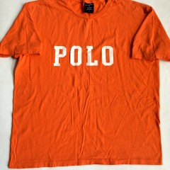 vintage 90's polo sport t shirt orange