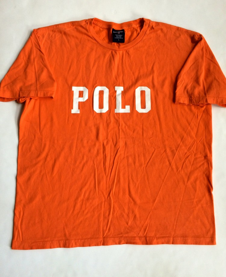 Shirt T Sport Polo Lauren Orange 90's Large Ralph Vintage Size eWE9Ib2DHY