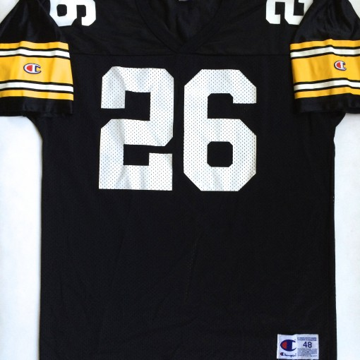 vintage rod woodson pittsburgh steelers champion nfl jersey size  48
