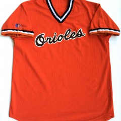 vintage baltimore orioles orange 80's mlb jersey