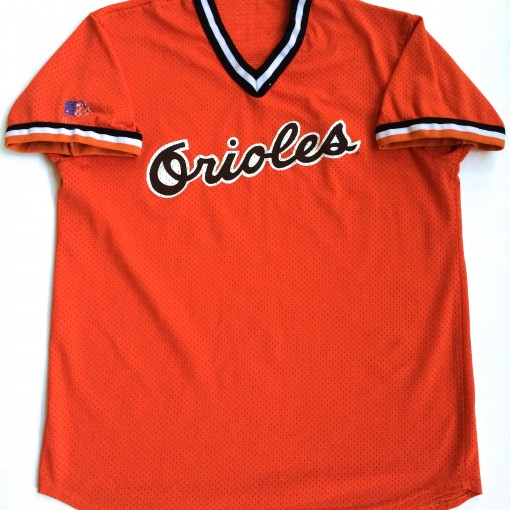vintage baltimore orioles orange 80's mlb jersey
