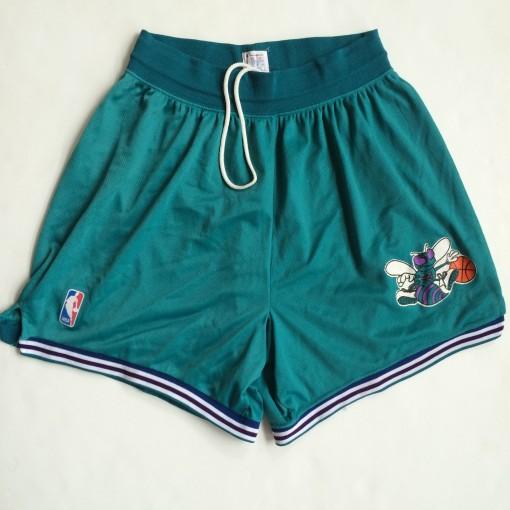 Vintage Charlotte Hornets champion nba shorts 90s aqua