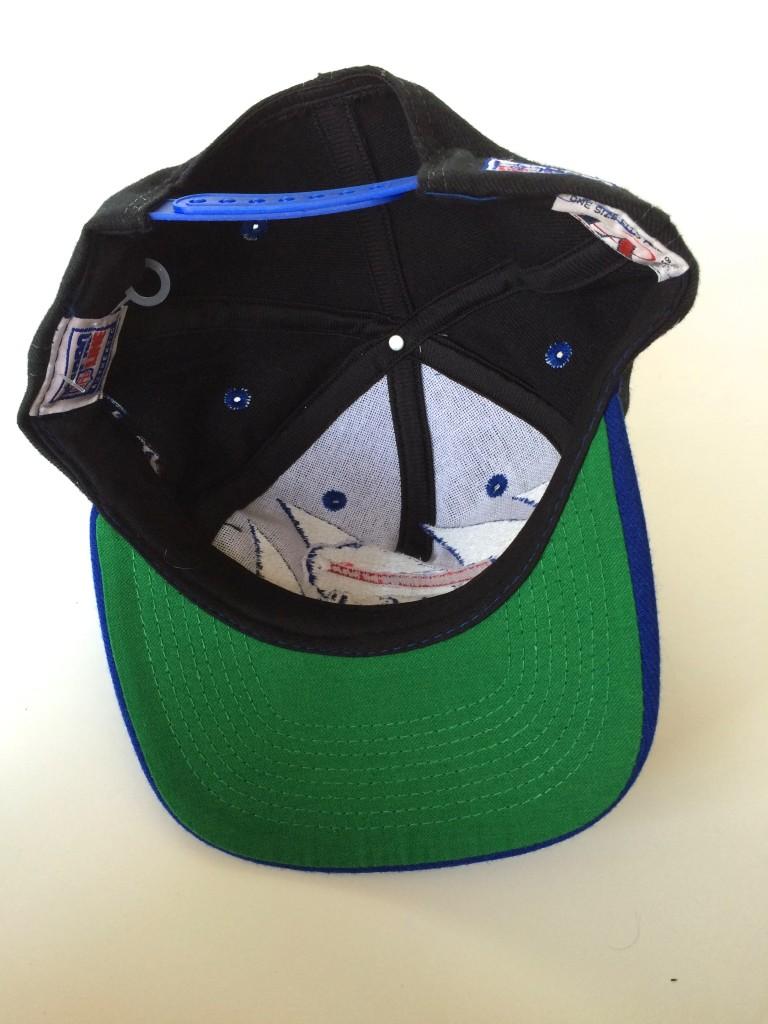 8d6806e6f vintage 90 s Buffalo bills logo athletic shark tooth snapback hat.  IMG 4759. IMG 4760