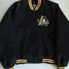 vintage pittsburgh penguins chalkline satin jacket not starter