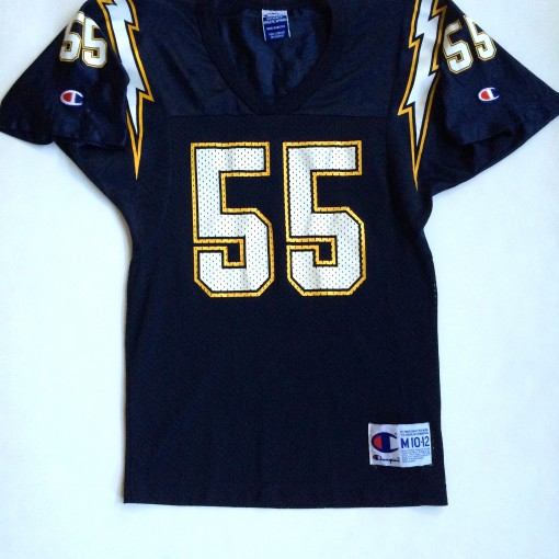 vintage junior seau san diego chargers youth medium jersey