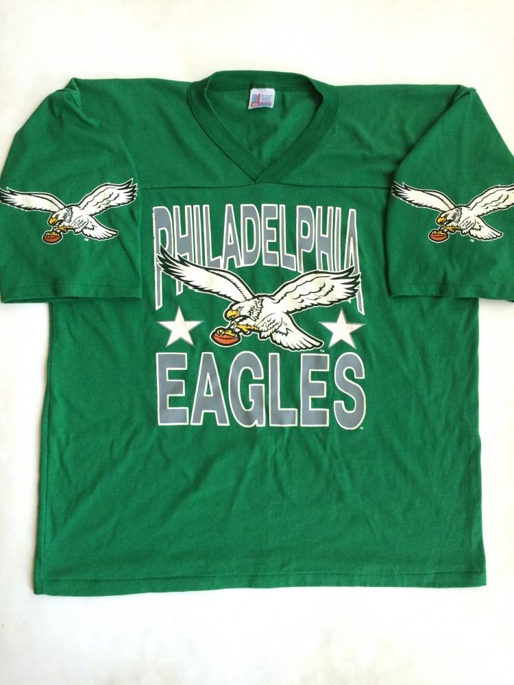 80�s philadelphia eagles kelly green nfl tshirt size xl