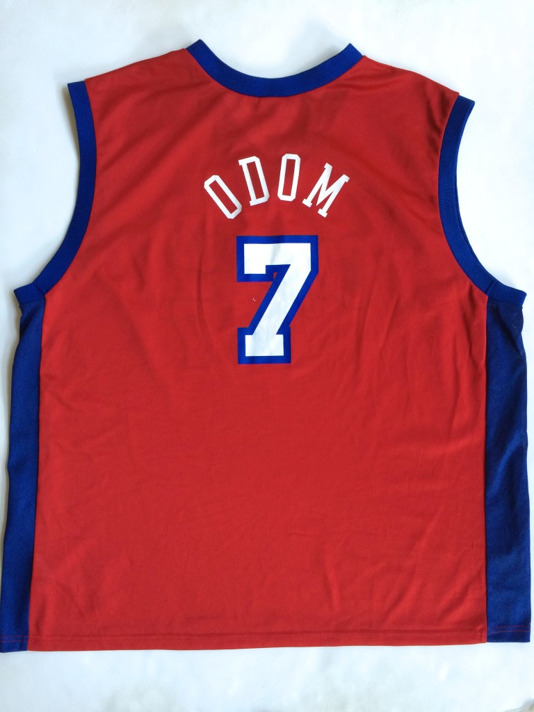 13e9d8ff196 2001 Lamar Odom Los Angeles Clippers Champion NBA Jersey Size 48 ...