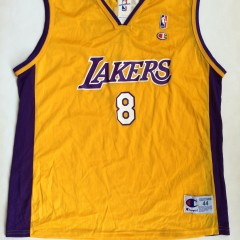 vintage #8 los angeles lakers kobe bryant champion nba jersey
