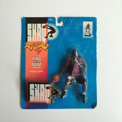 vintage 1994 shaq attack king of the paint toy action figure