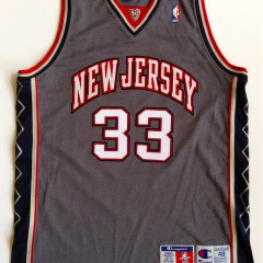 vintage stephon marbury new jersey nets authentic nba jersey size 48 grey alternate