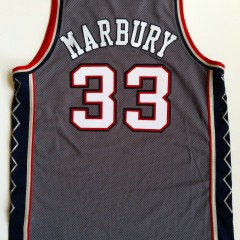 vintage stephon marbury new jersey nets grey champion jersey