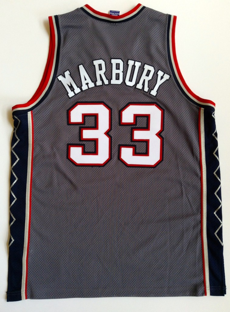 7ee841f3c96f 2001 Stephon Marbury New Jersey Nets Authentic Champion NBA Jersey ...
