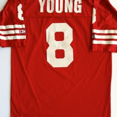 vintage steve young 49ers jersey red large