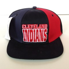 vintage cleveland indians 90's mlb snapback hat