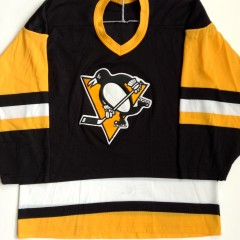 vintage 1980's pittsburgh penguins ccm nhl jersey size medium