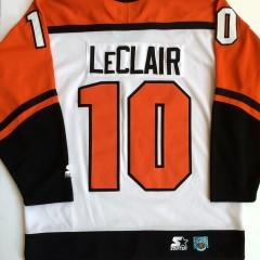 vintage 90's starter john leclair philadelphia flyers jersey