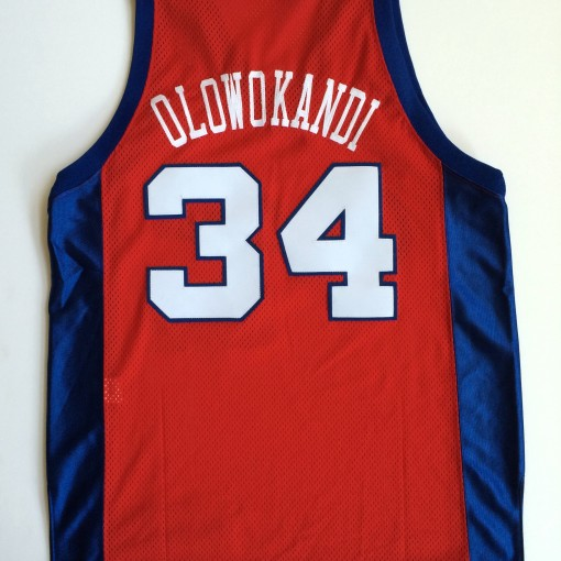 vintage throwback los angeles clippers michael olowokandi jersey size 44