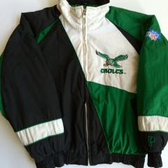 pro player vintage philadelphia eagles pro player kelly green winter jacket