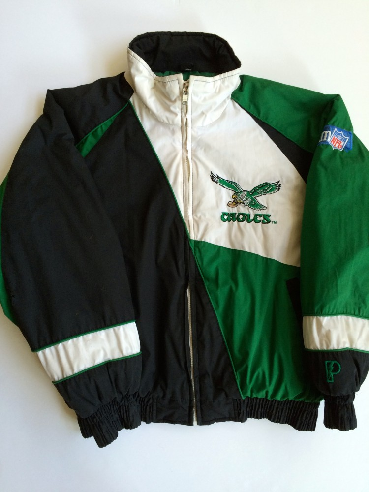 3d96fdfba pro player vintage philadelphia eagles pro player kelly green winter jacket