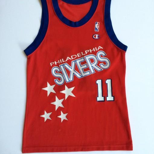 vintage Manute Bol Philadelphia sixers shooting stars 90's champion jerseys size 40