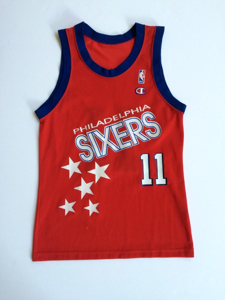 vintage Manute Bol Philadelphia sixers shooting stars 90 s champion jerseys  size 40 f39baadac